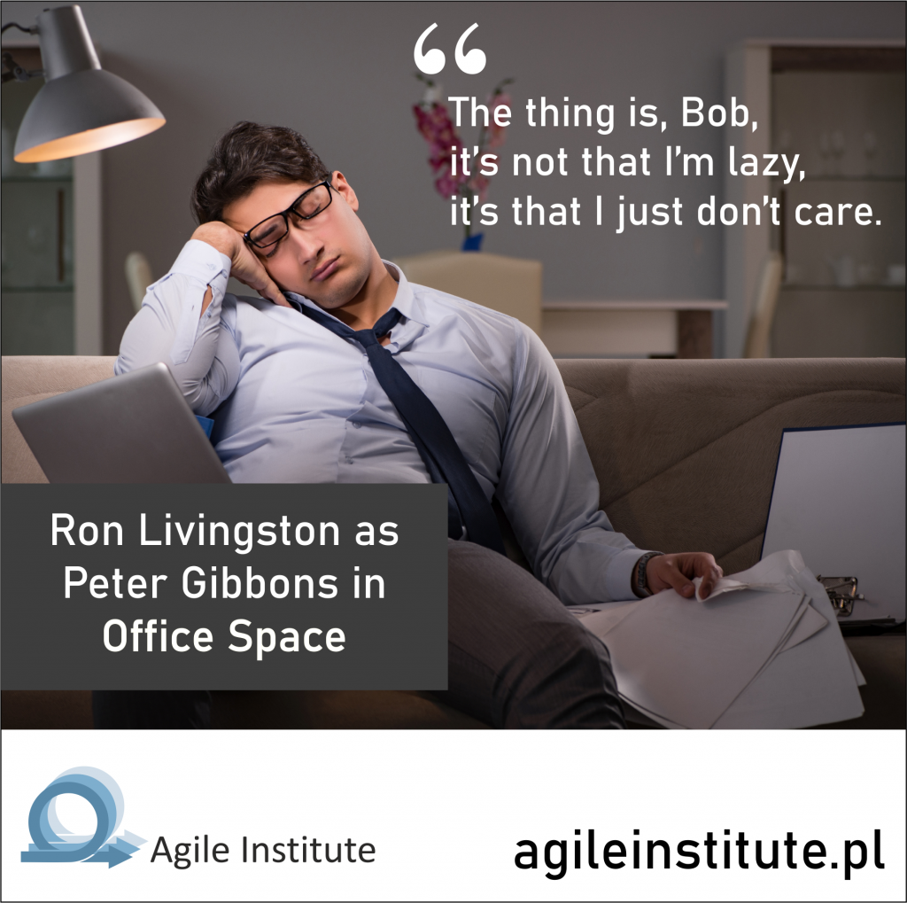 Ron Livingston as Peter Gibbons in Office Space